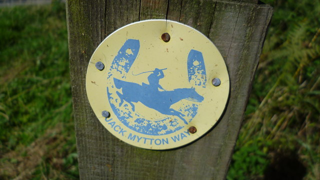 Waymarker post and disc for the Jack Mytton Way