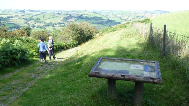On Offa's Dyke Path in summer