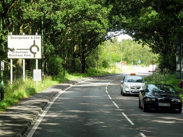 A339 near Greenham Common