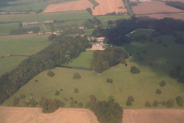Hainton Hall and Park: aerial 2014