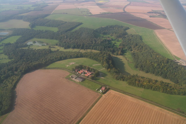 Stenigot Top Farm: aerial 2014