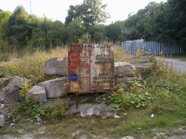 Sign at the entrance to disused quarry
