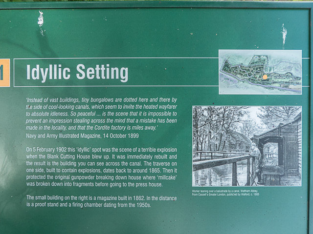 Information Board, Royal Gunpowder Mills, Waltham Abbey