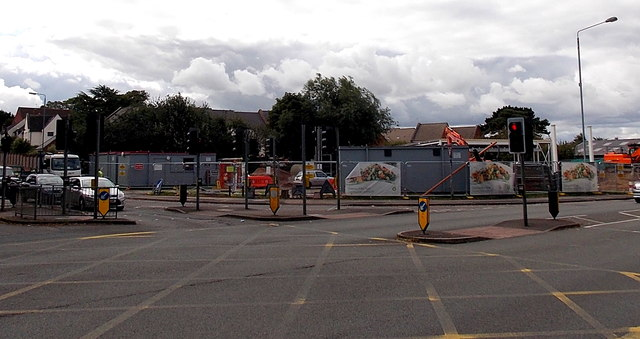 Building site opposite a junction in Melton Mowbray