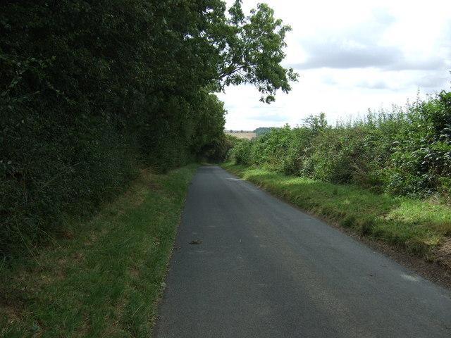 Lane beside North Wood