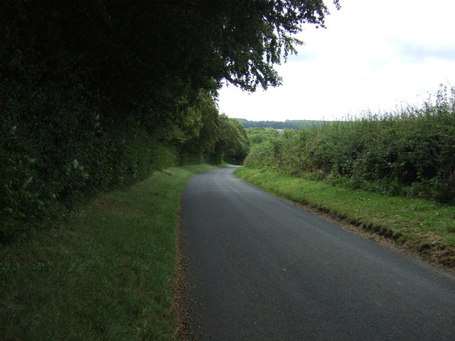 Twisty lane beside North Wood