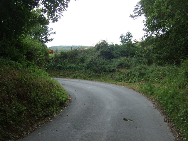 Sharp bend in the lane