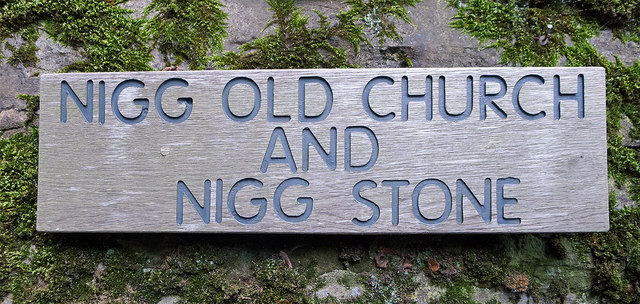 Wall sign for Nigg Old Church
