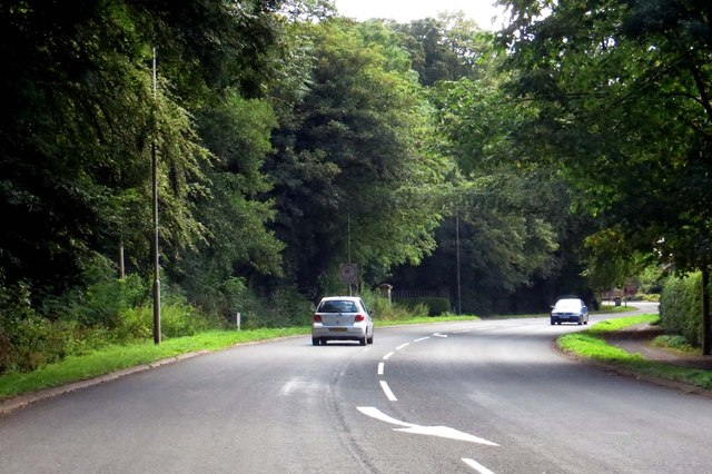 The A586 through Churchtown