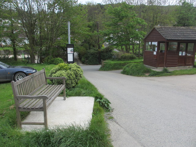 Bus stop with seat