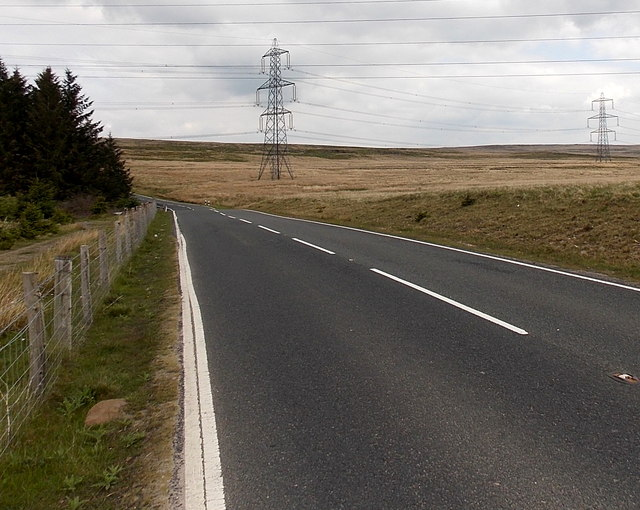 Llangynidr Road north of Garnlydan