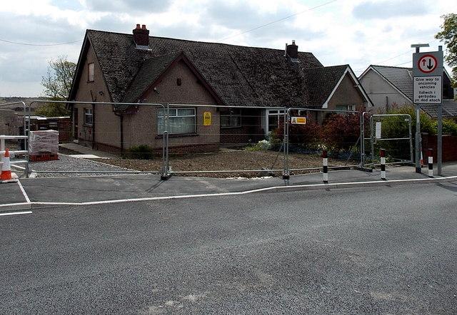 Condemned bungalows in Garnlydan