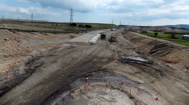 Building the new route of the A465 east of Garnlydan
