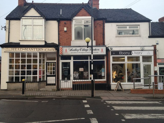 Three adjacent hairdressers in Audley