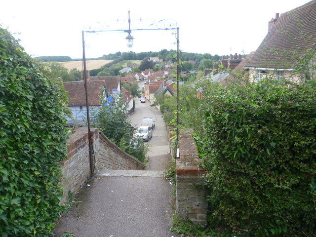 View from the entrance to St Mary's Churchyard, Kersey