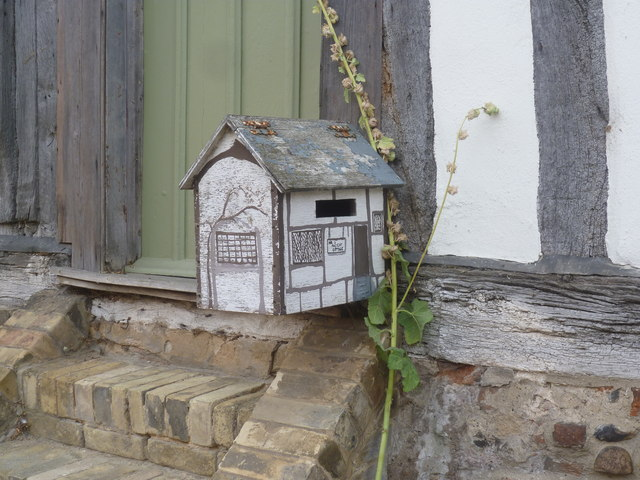 Letter box in keeping with the village, Kersey