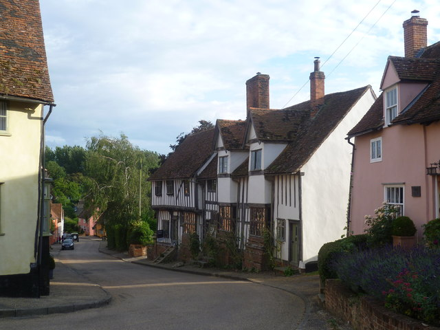 Looking down The Street at Kersey