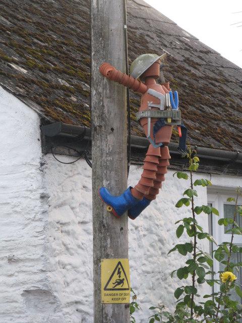 Climbing the telegraph pole