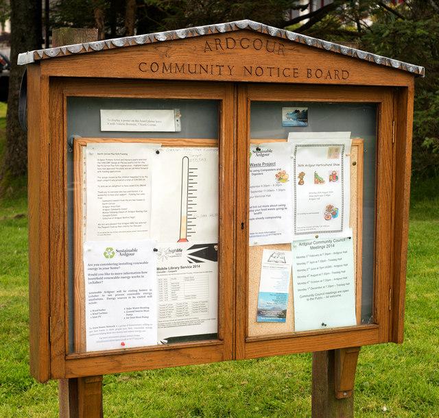 Ardgour Community Notice Board