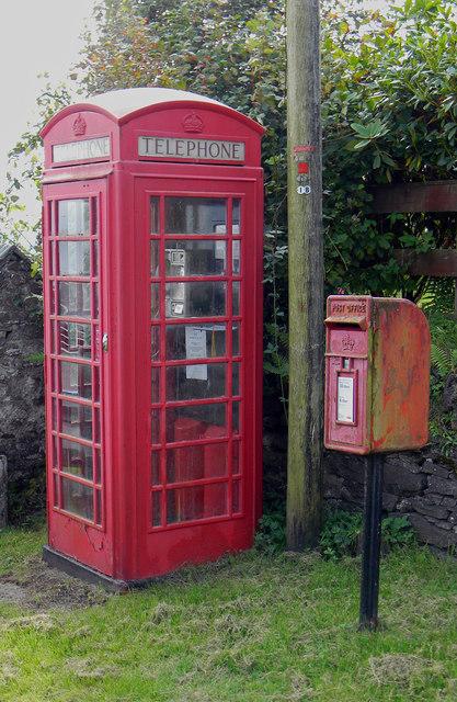 Telephone and Post Box - Achnacroish