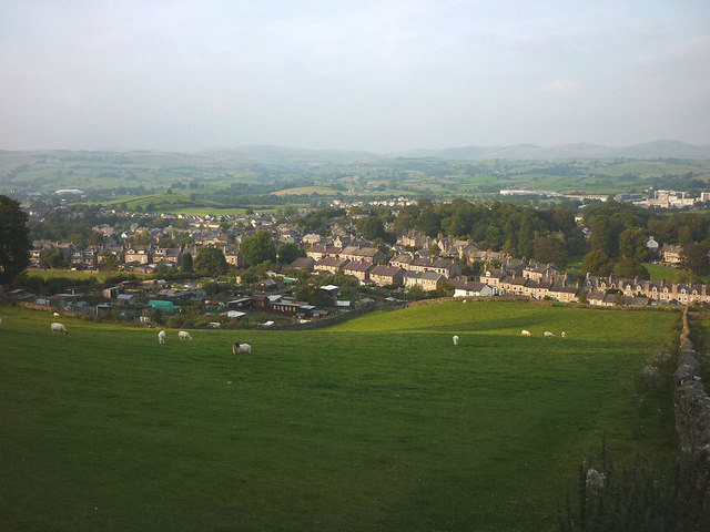 Sheep grazing above Kendal