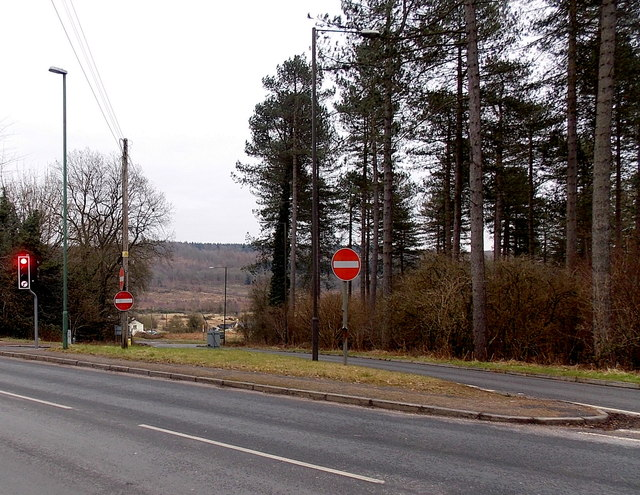 No Entry signs at a triangular junction, Hawkwell