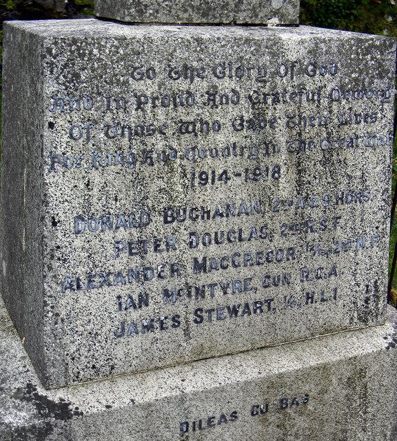 Lismore War Memorial - detail