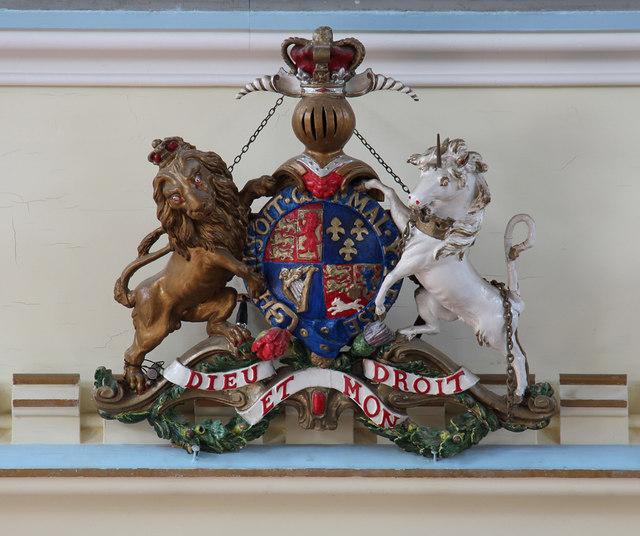 St John the Baptist, Hampton Wick - Royal Arms