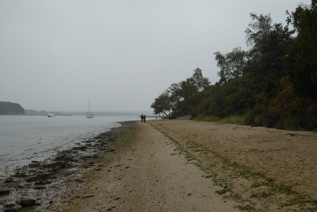 Shipstal Point beach in the rain