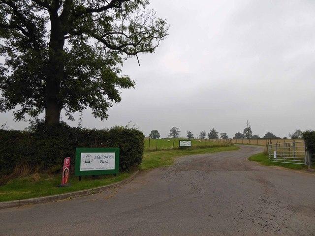 Entrance to Hall Park Farm