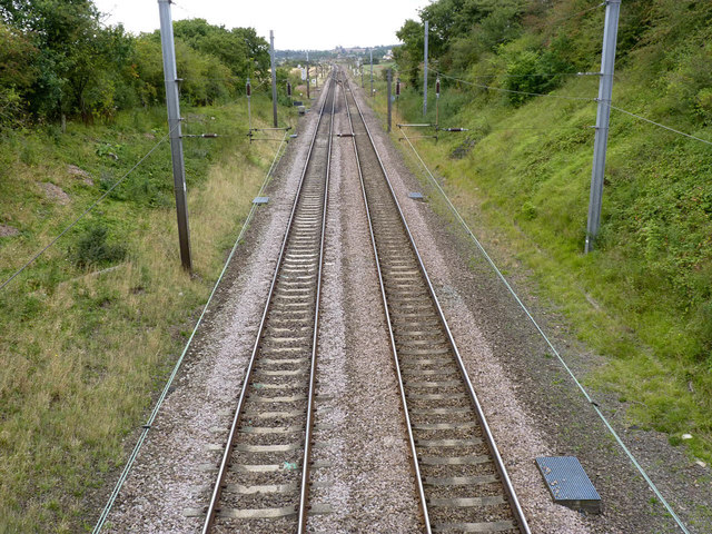 East Coast Main Line at Eaton Lane bridge