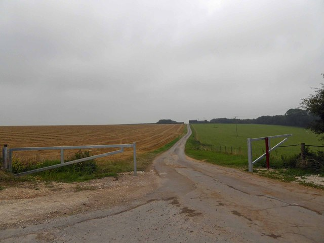 Farm track on the Lincolnshire Wolds near Cuxwold