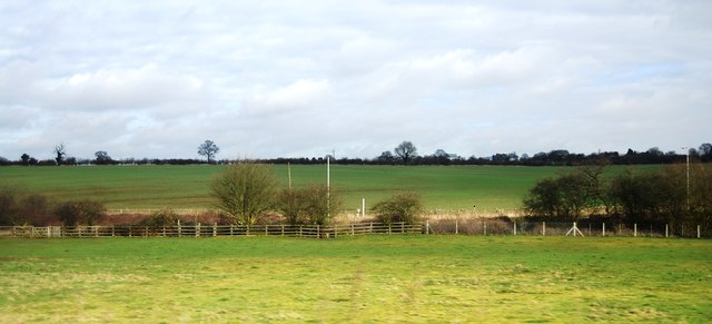 Farmland by the East Coast Main Line