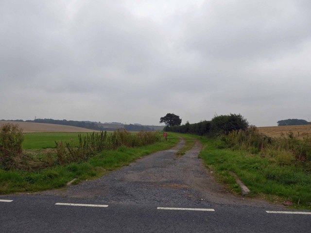 Farm track from minor road from Beelsby