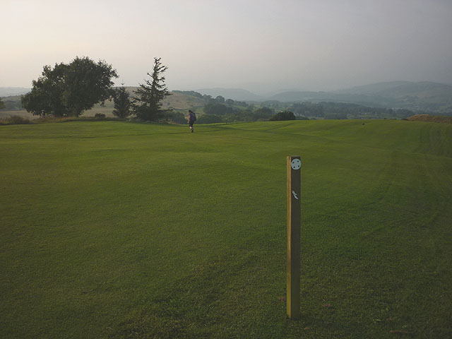 Footpath across the golf course, Kendal Fell
