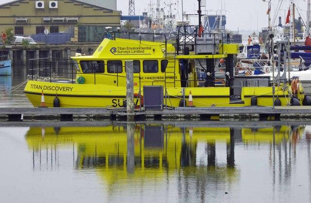 Survey boat reflections
