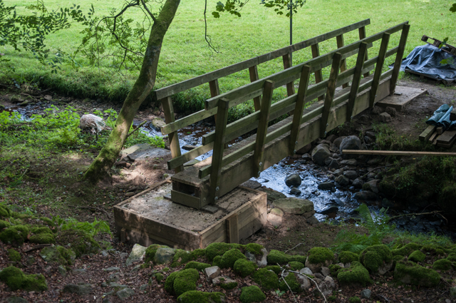 Footbridge on Mossdale footpath