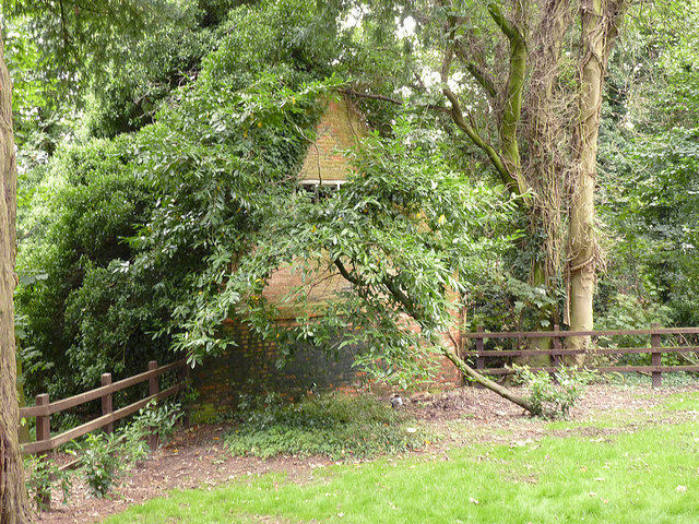 Almshouse ruins at Grove