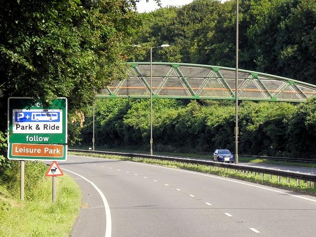 Footbridge Over A339, Basingstoke Northern Ring Road