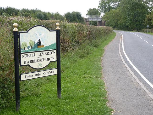 North Leverton with Habblesthorpe village entrance sign