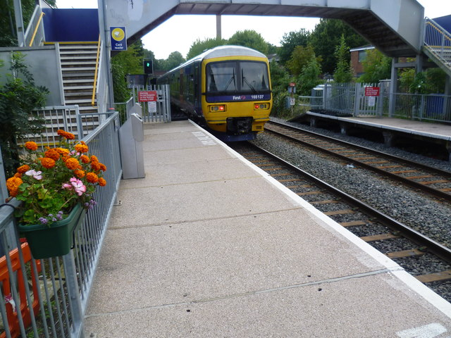 Train at Castle Bar Park station