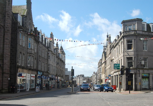 Looking down Holburn Street, Aberdeen