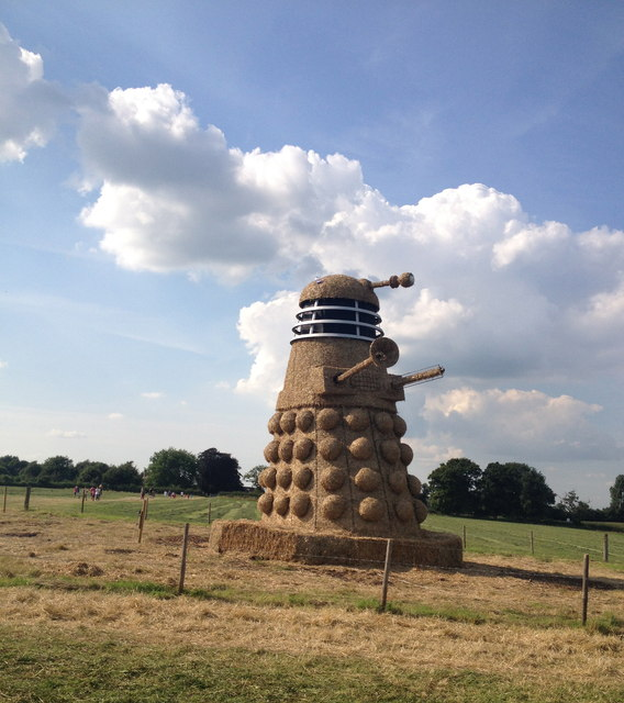 Snugbury's ice cream straw sculpture by the A51