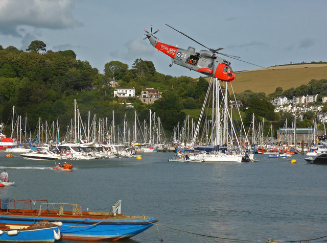 Dartmouth Regatta - Sea King helicopter