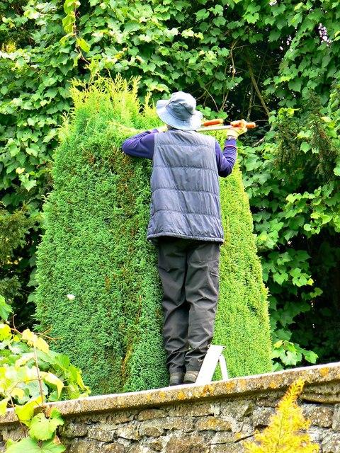 Gardener, Newark Park, Ozleworth, Gloucestershire