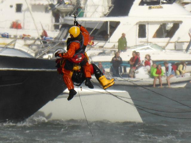 Dartmouth Regatta - air sea rescue display