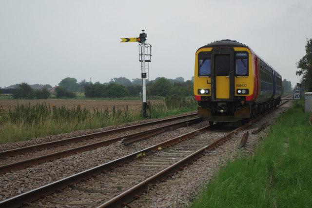 Railway west of Wainfleet