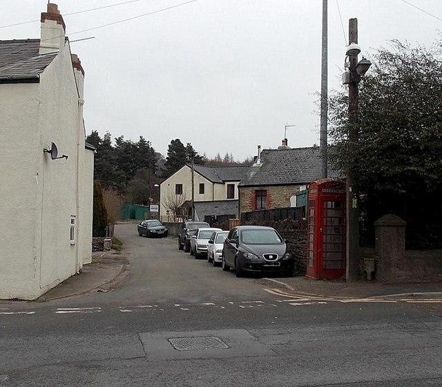 Red phonebox, Steam Mills