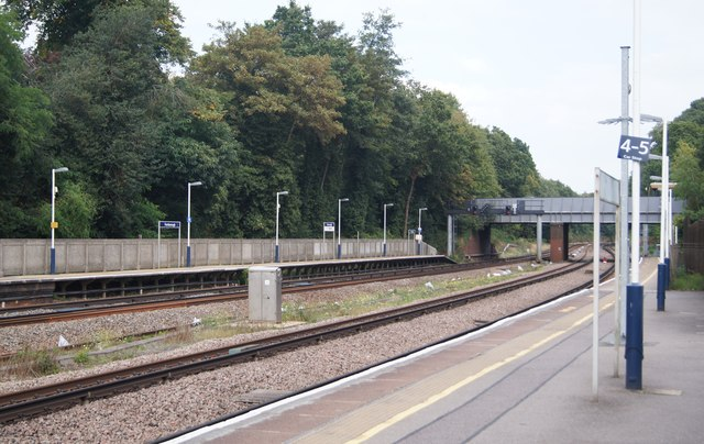 An empty Farnborough station