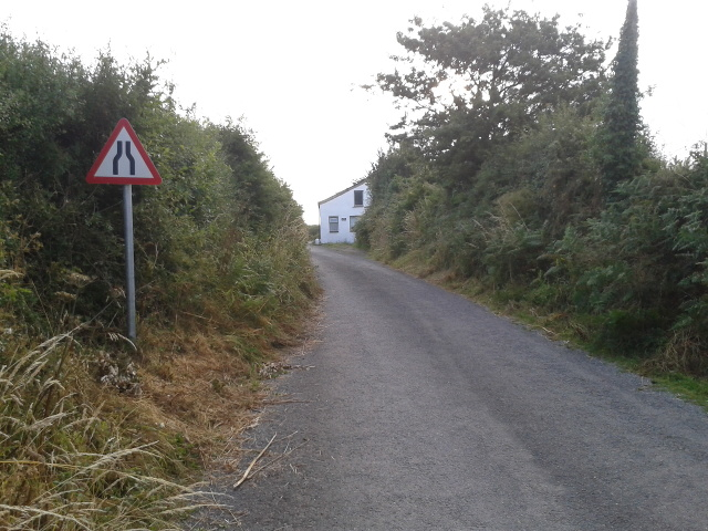 Lane on the edge of St Kew